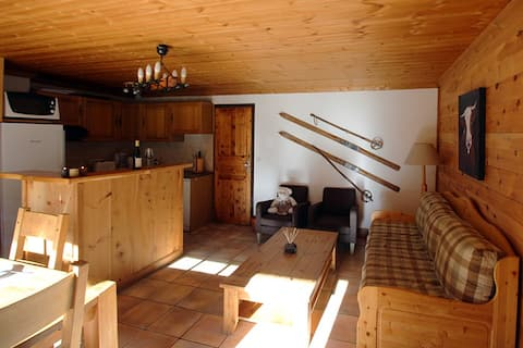 Beautiful bright apt at 2 steps from the slopes
