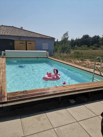 Maison 90m2 avec piscine LOCATION À LA  SEMAINE