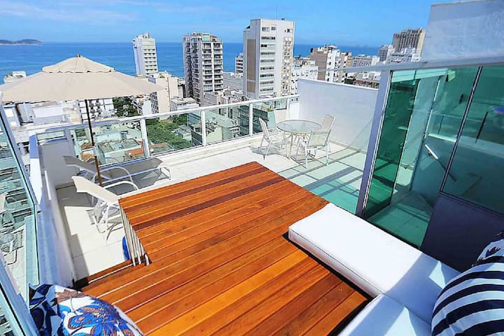 ❤️Panoramic Views Ipanema Penthouse With Terrace❤️