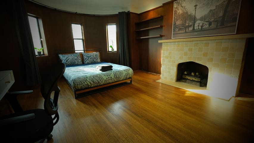 Overlooking Humewood in Huge Fireplace Bedroom