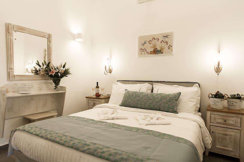 Cycladic style bedroom