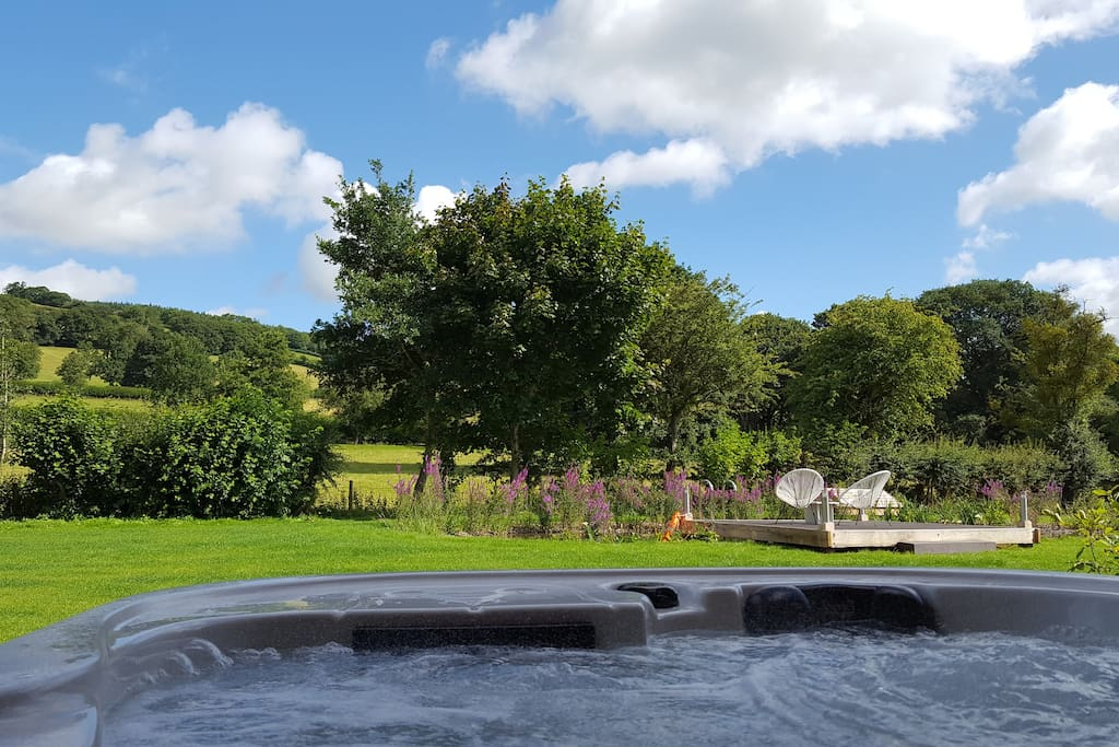 Take in the views of the Shropshire Hills from your private Hot Tub