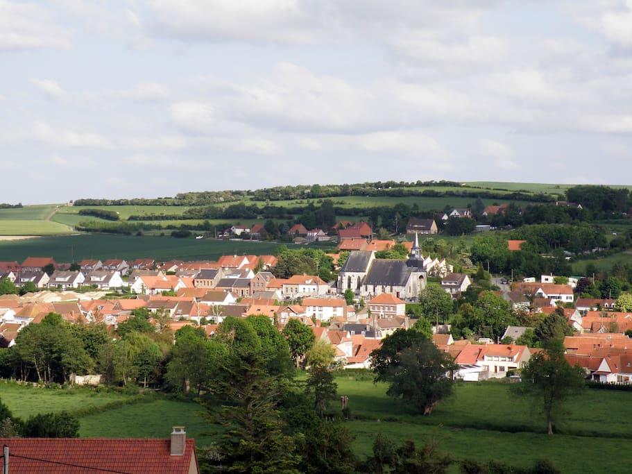 notre village vu de la maison