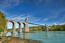 Menzies suspension    Menai suspension bridge.