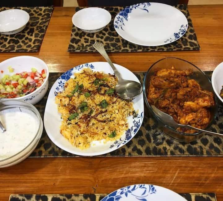 Paneer~e~khaas  biryani Bhuna Chicken