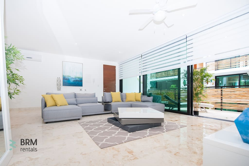 Living room with lots of resting space