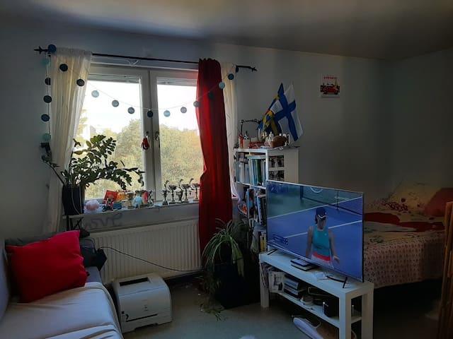 Mindre lägenhet helt för dig själv med fin utsikt!