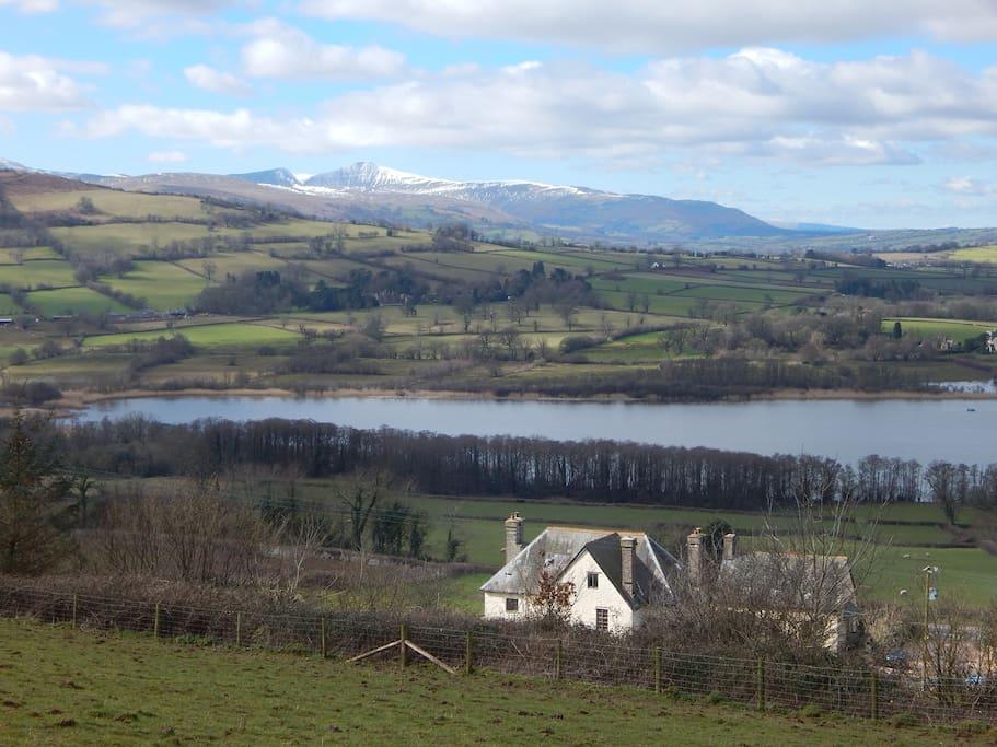 Cathedine Fawr and its beautiful views.