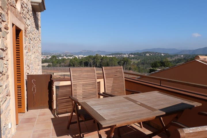Charm apartment with swimming pool - La Torre de Claramunt - Huis