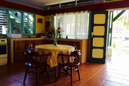 Pretty jungle bungalow; 10 minute walk to beach!! - Quepos - Bungalow