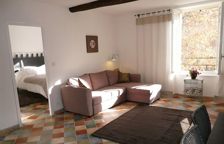 Stylish apartment on square for walking and wine - Saint-Chinian - Apartment