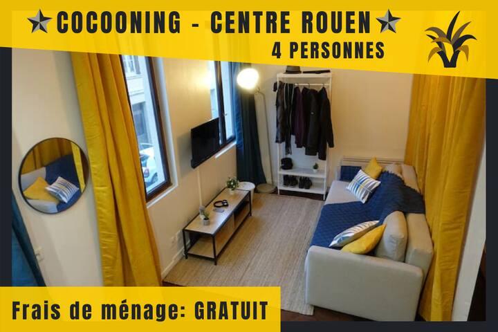 Cocooning - 4 personnes - Centre Ville de ROUEN
