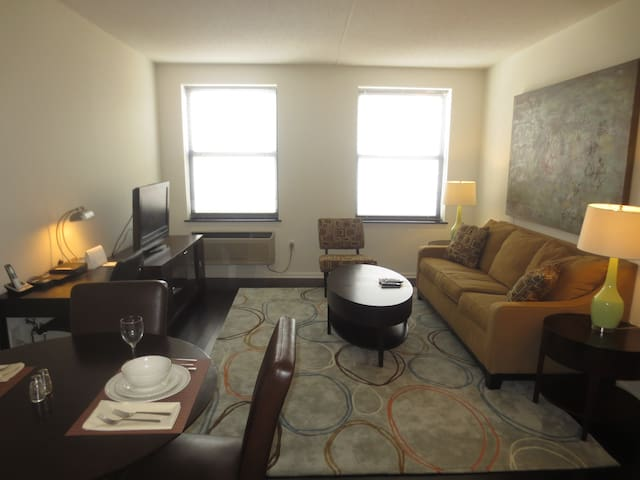 Luxury 1-Bedroom Apt in Morristown NJ - Morristown - Leilighet