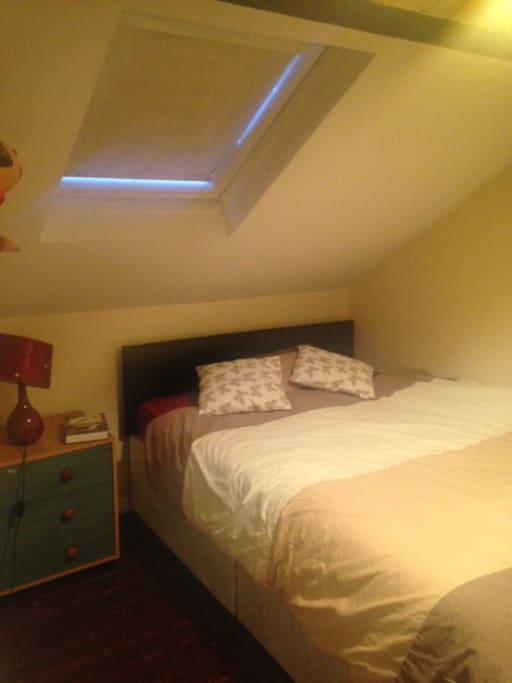Large bedroom in cosy room located on the 2nd floor