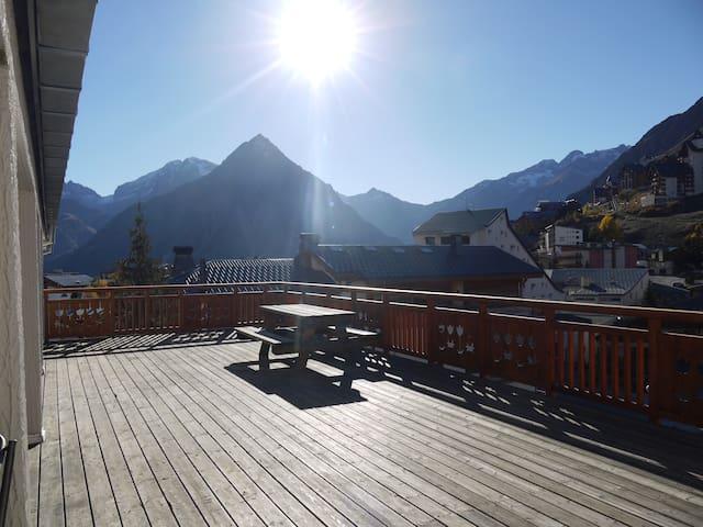 Superbe vue dans duplex 12 personnes aux 2 Alpes - Mont-de-Lans - Apartament