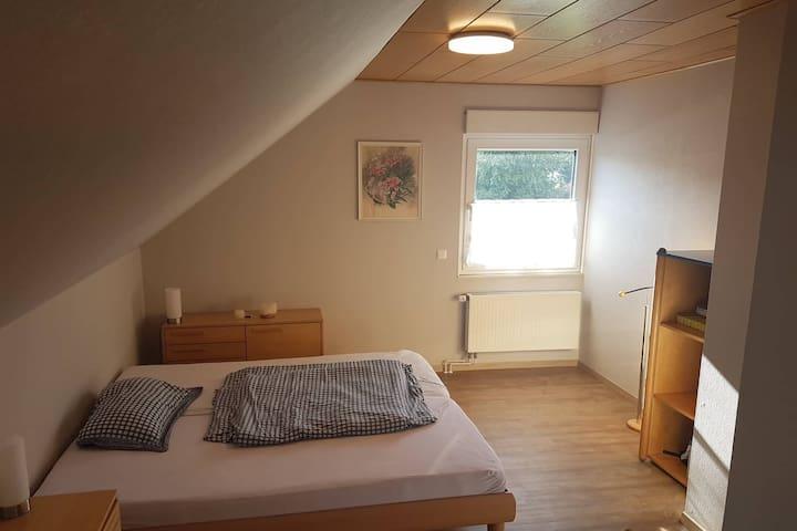 Frisch renoviertes Zimmer und Bad, Queen size Bett