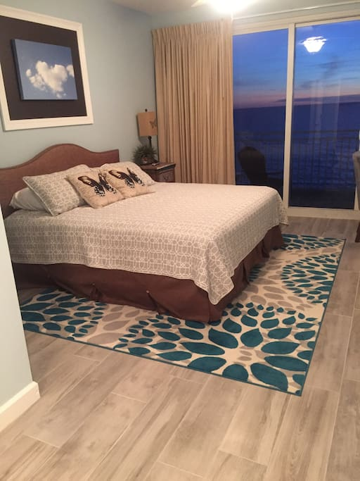 Master bedroom with private oceanfront balcony