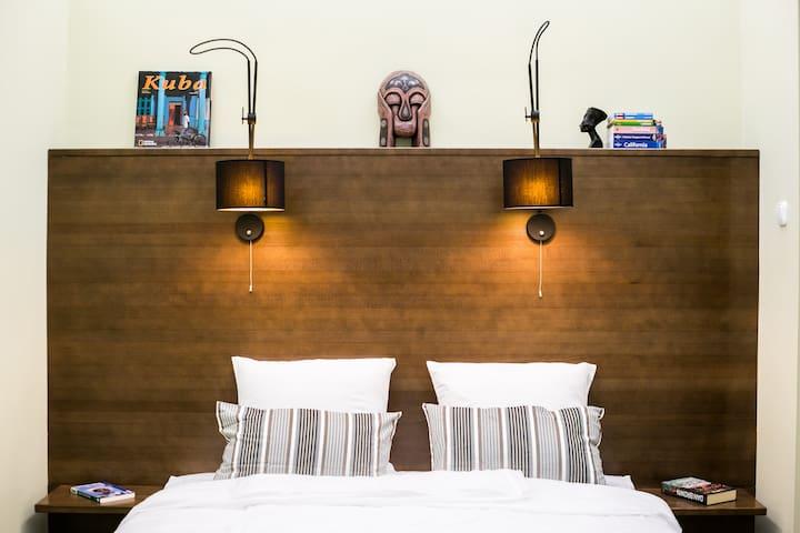 The walnut bedroom headboard