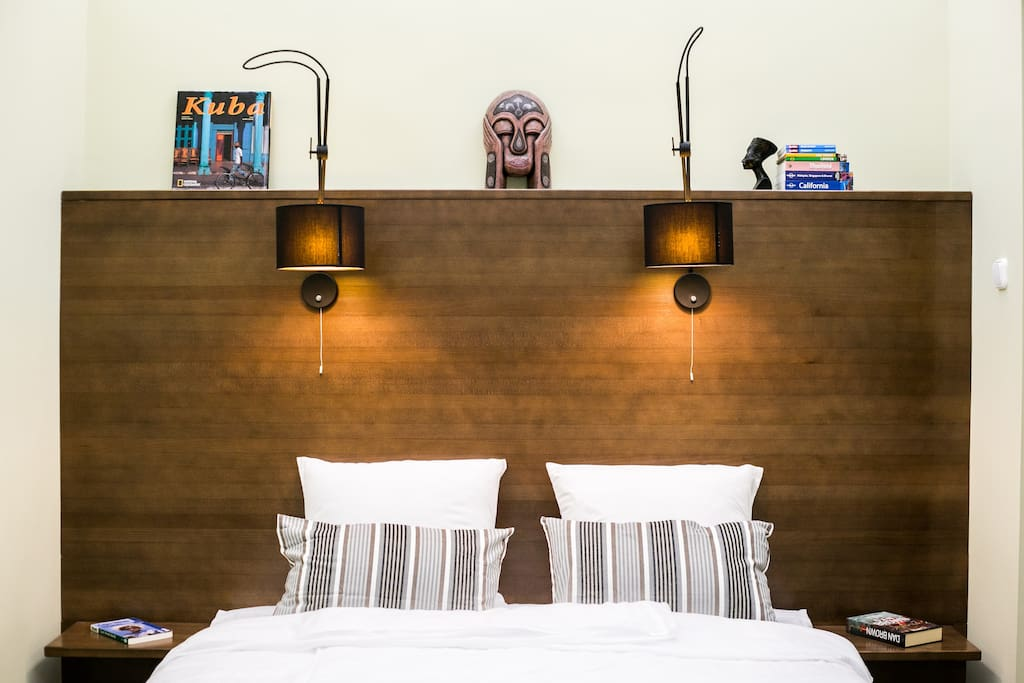 The walnut bedroom headboard