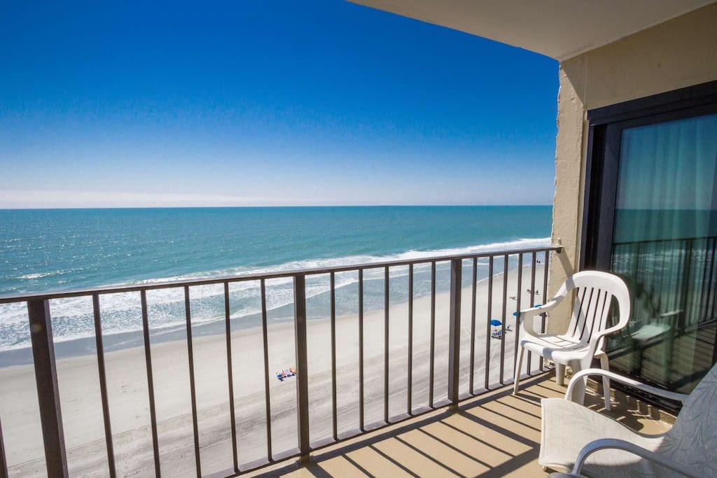 Balcony is accessible from living room or master bedroom.