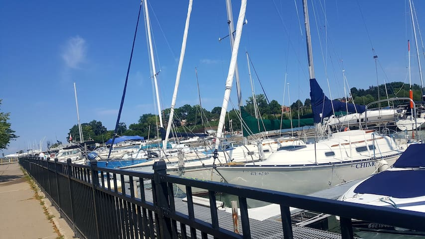 Port Dalhousie Marina. Ask your host about the fishing charters available.