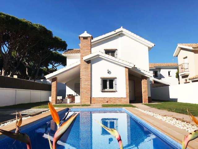 Villa Marina 250m playa de la Barrosa