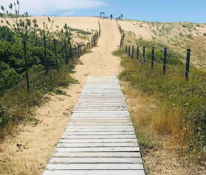 Studio au pied des dunes, à deux pas de la plage 🏖