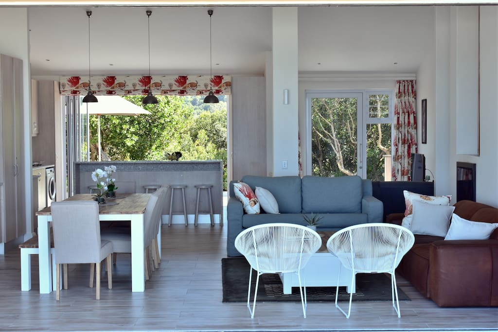 Open plan dining, living and kitchen
