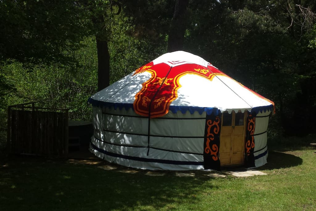 The yurt and hot tub