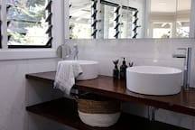 Dual basins in the huge master ensuite bathroom