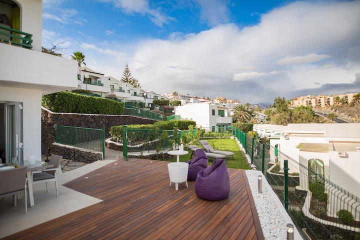 Bungalow con gran terraza