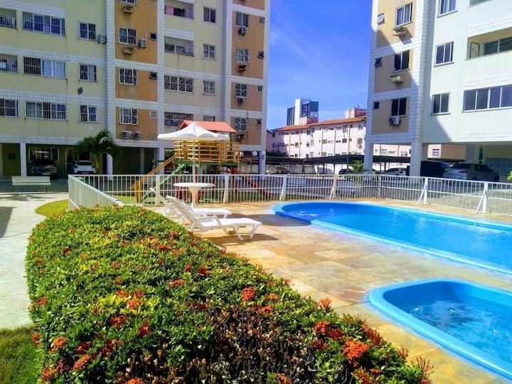 Apartamento Inteiro  Fortaleza Damas-3Qts, 2 Vagas