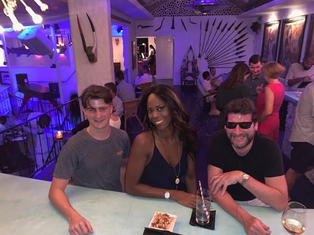 Keisha and guest at Cliff Beach Club.