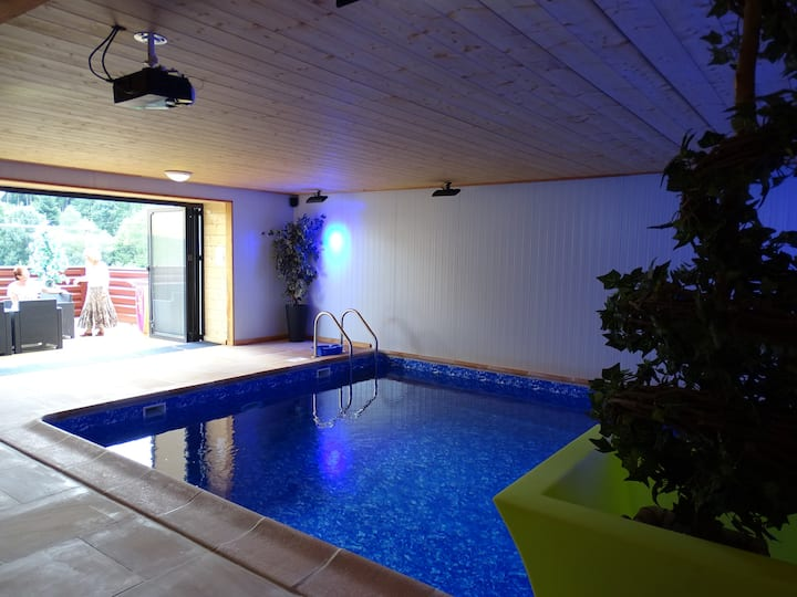 Stone Farmhouse with indoor pool