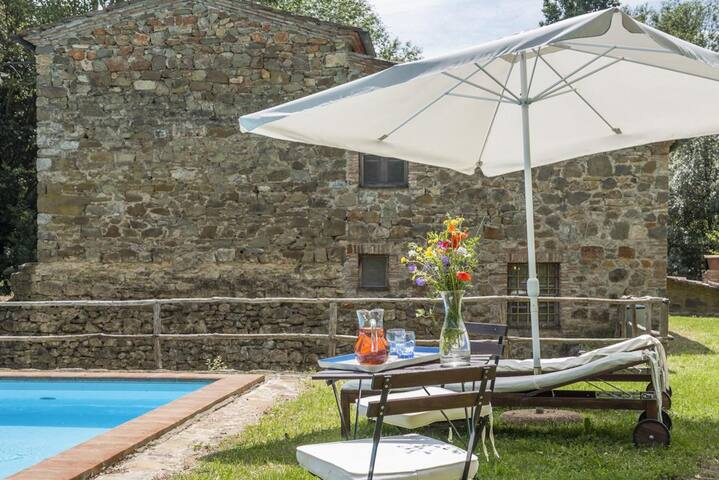 Windmill Villa with Beautiful Garden and Pool