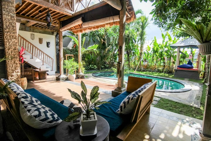 Amazing 3BR Tropical villa 14min to t'beach VD3
