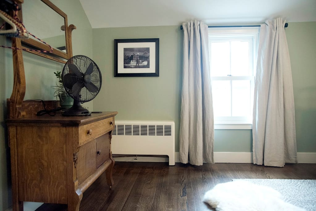 Each room is meticulously appointed and has its own fan and sound machine.