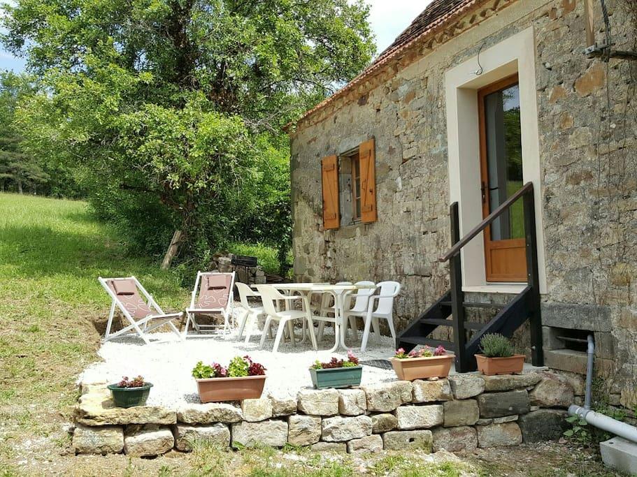 Terrasse privée, au calme avec beau panorama