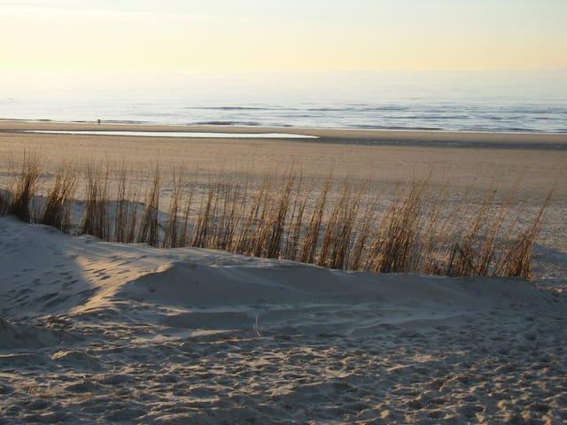 Strand is op loopafstand.
