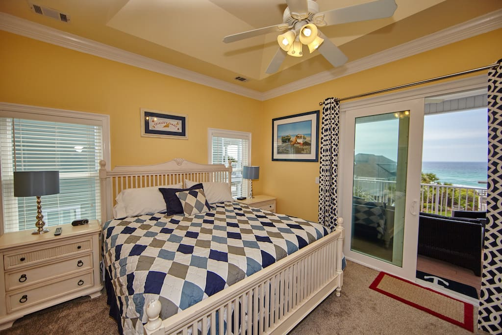 Master Bedroom with King size bed, gulf views and private deck.