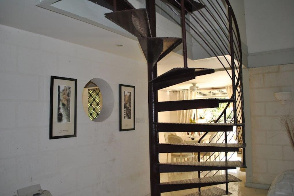 Spiral Staircase to 2nd Bedroom