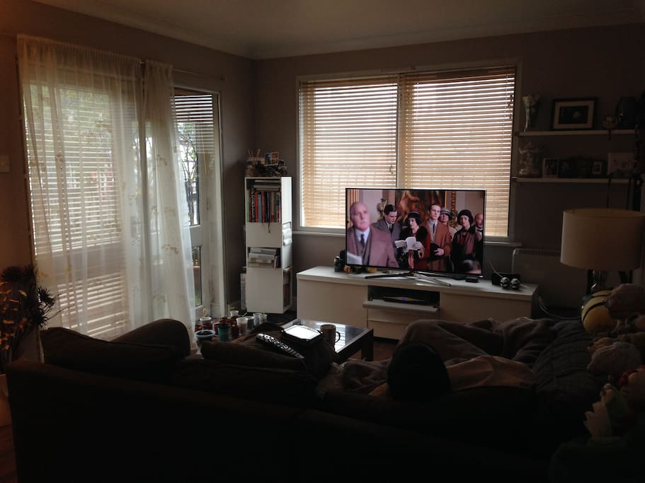 Living room with flatscreen TV and Skybox