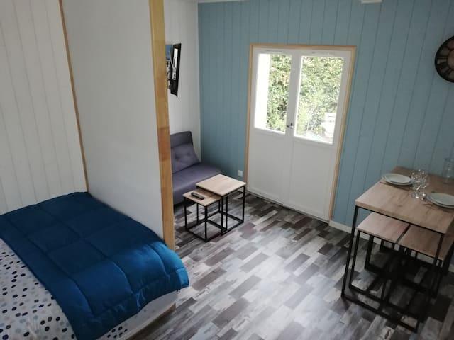 Carteret: Petite maison de plage avec jardin
