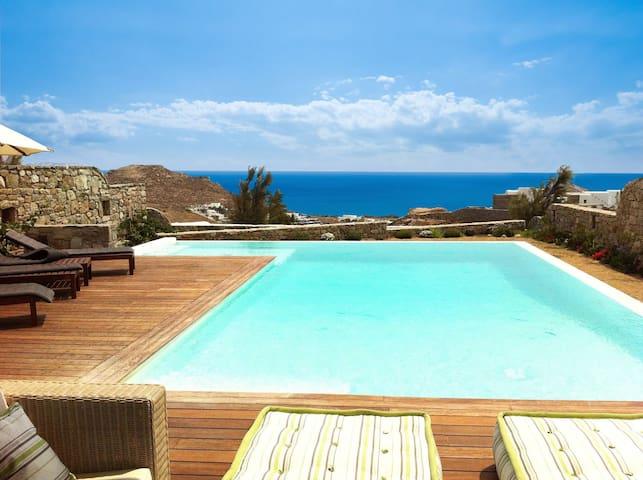 Villa Samash with pool and sea view - Mykonos - Villa