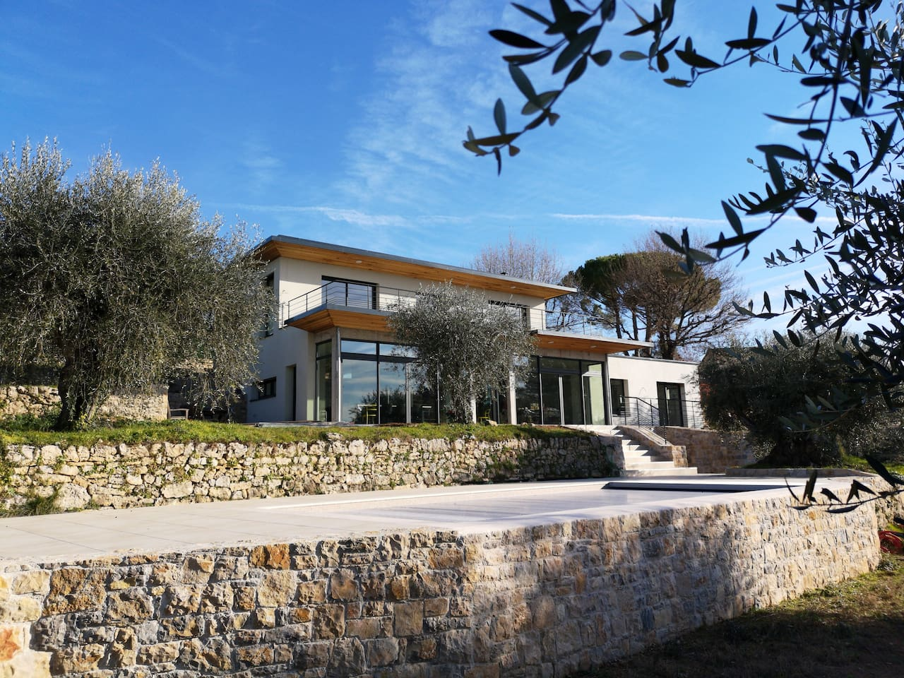 Outside view of the Bioclimatic Villa