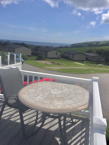 4 berth home, Praa Sands Holiday Park, Sea Views