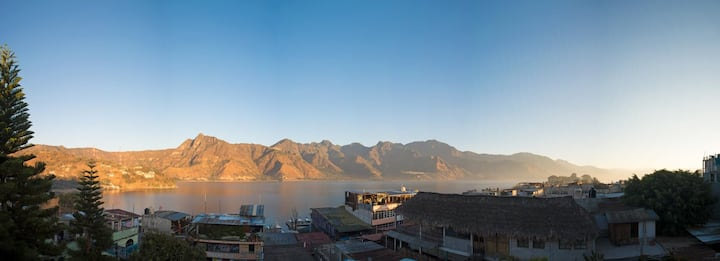 Large room with balcony Views over Lake Atitlan