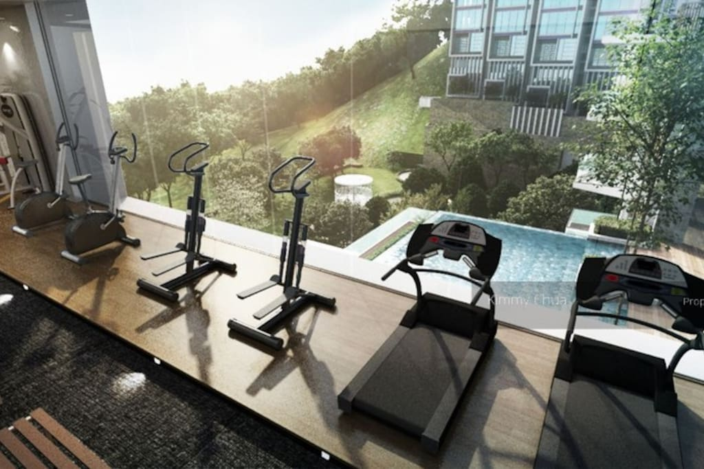 Great view from gym & infinity pools