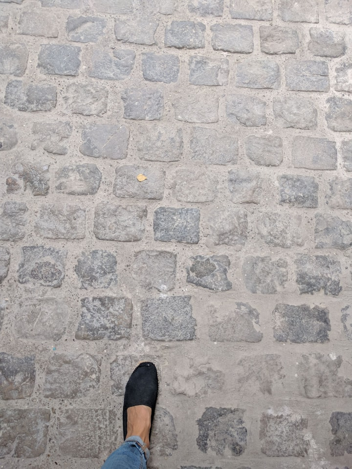 Step into the paved streets