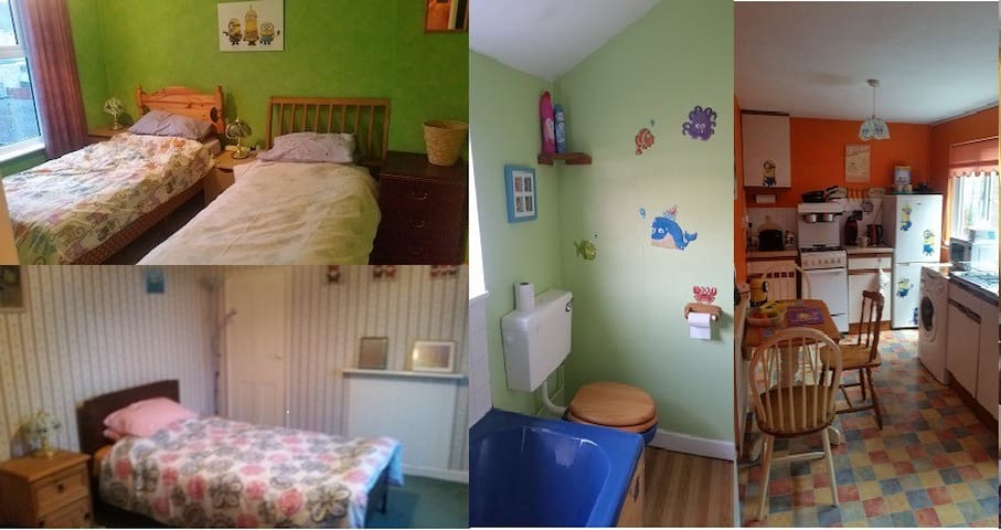 2 rooms-1 with 2 single beds,1 with double+more.. - Lowestoft - Huis